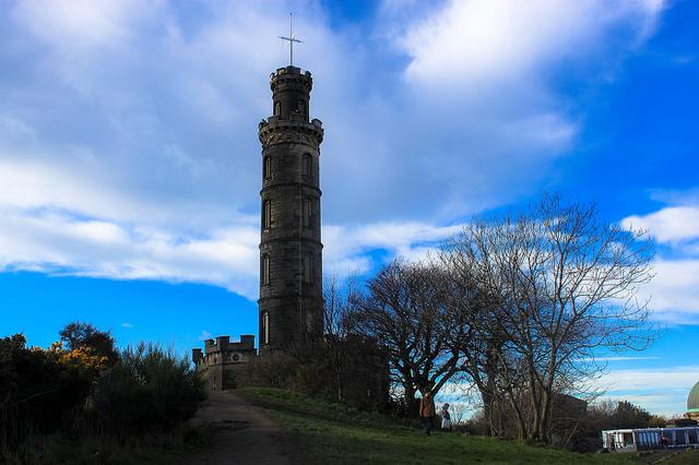 Nelson Monument on Calton Hill in Edinburgh
