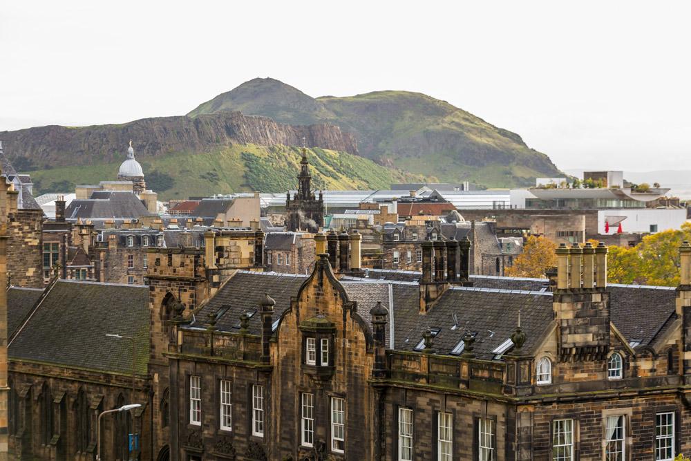 Arthurs Seat over city of Edinburgh