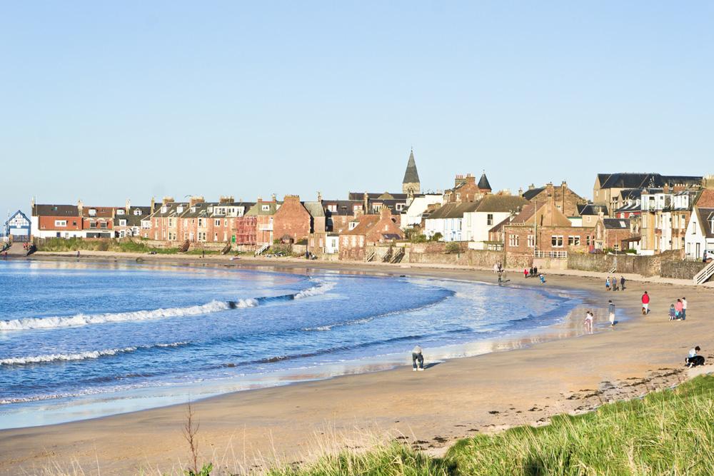 Seaside town of North Berwick in Scotland