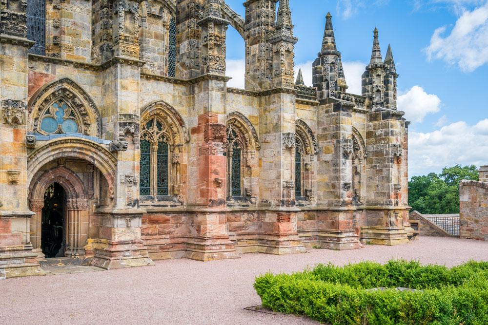 Rosslyn Chapel near Edinburgh