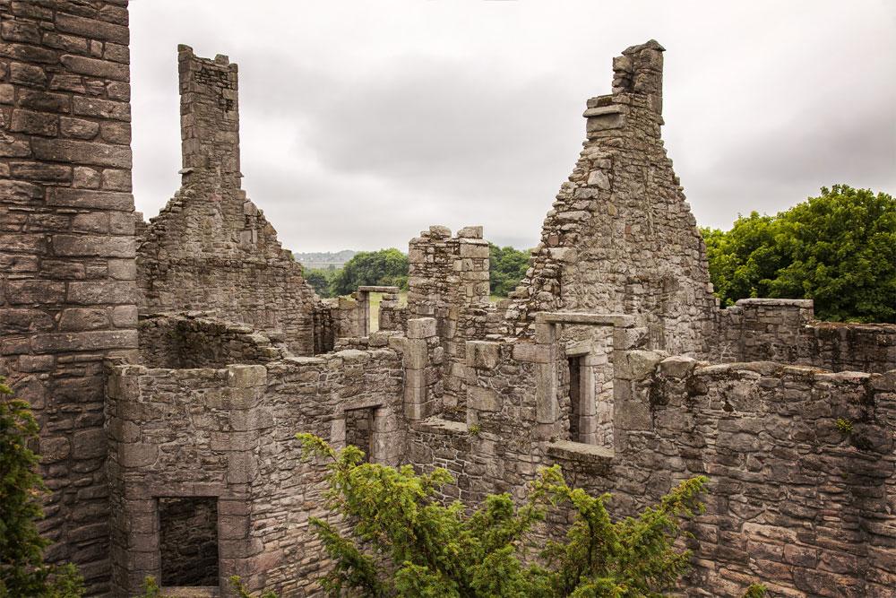 Ruins of Craigmillar Castle near Edinburgh