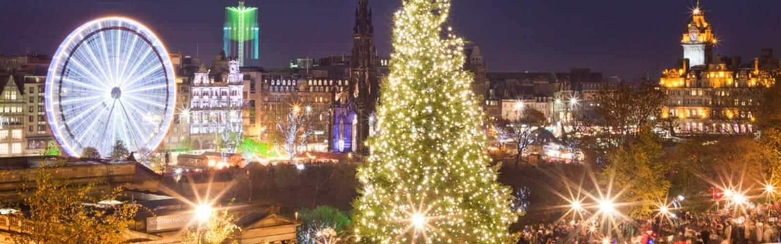 Edinburgh at Christmas time