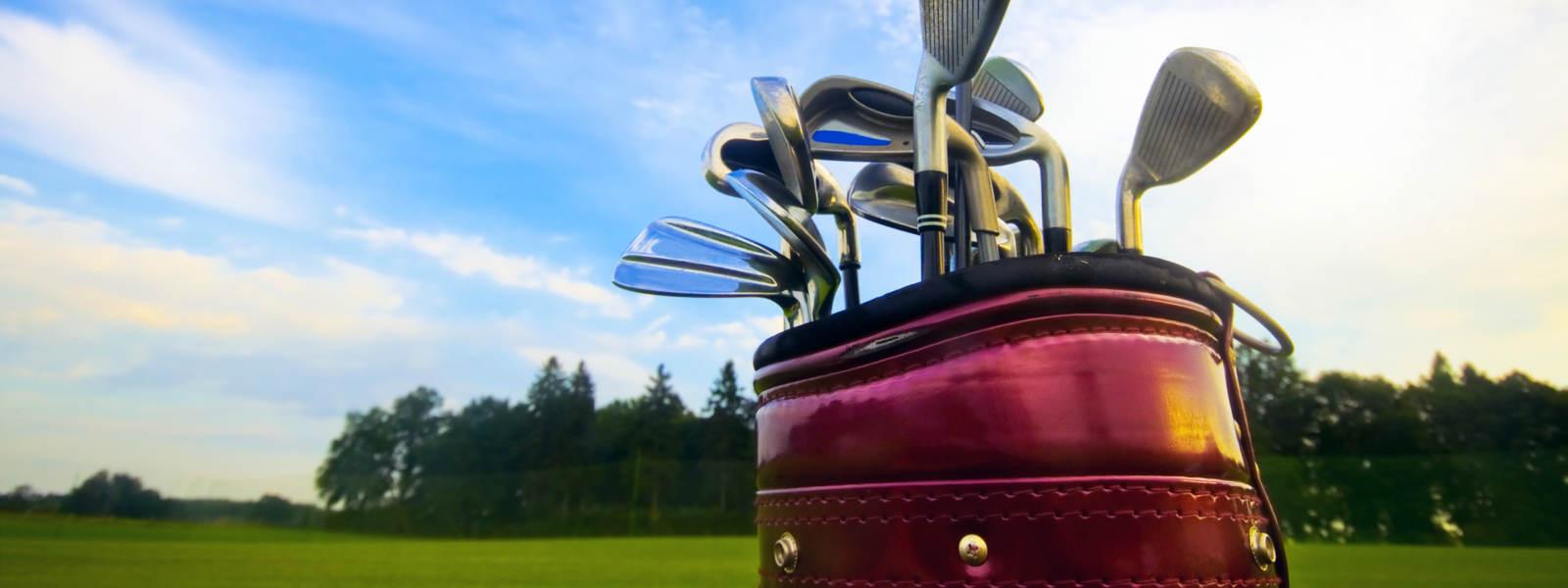 Golf clubs on a course in Edinburgh