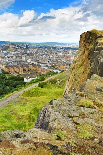 View from Arthurs Seat in Edinburgh