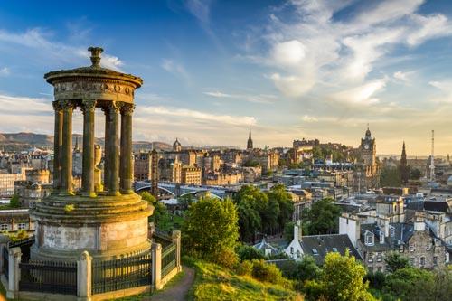 View from Calton Hill Edinburgh