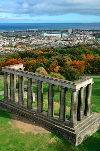Scottish National Monument on Calton Hill