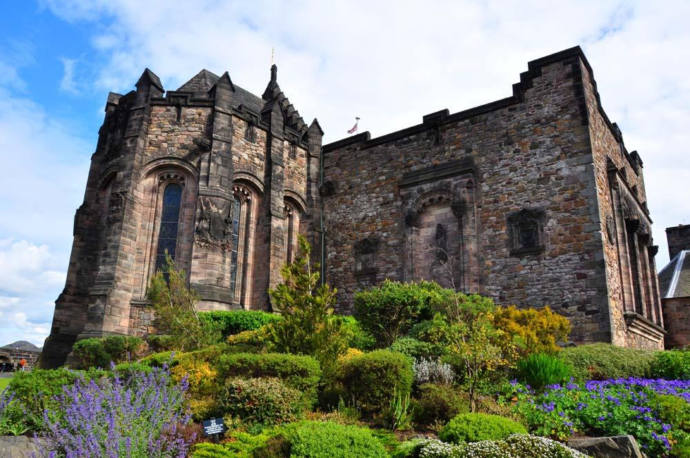 Chapel inside the walls of Edinburgh Castle