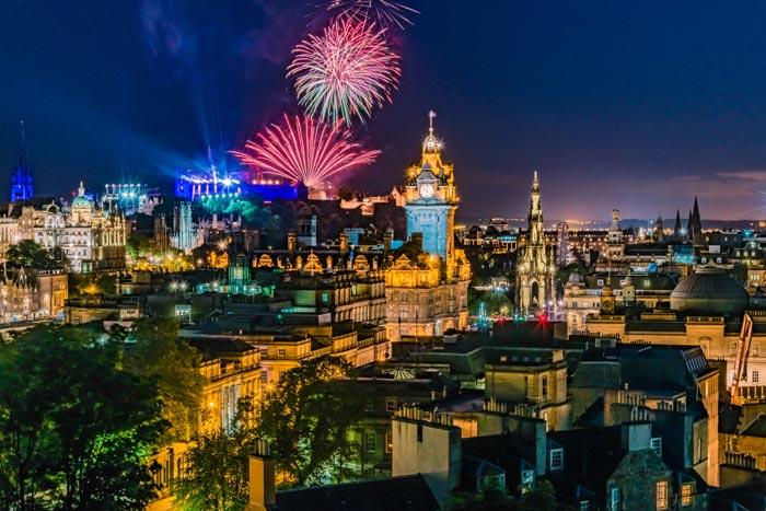 Fireworks from Edinburgh Castle