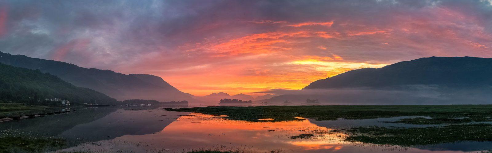 Sunset over Glencoe in Scotland