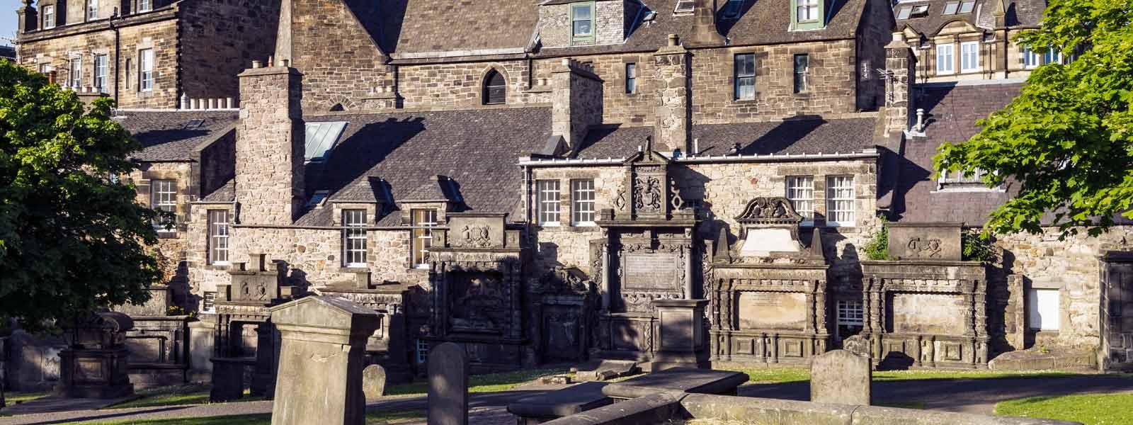 Gravestones in Greyfriars Kirkyard Edinburgh