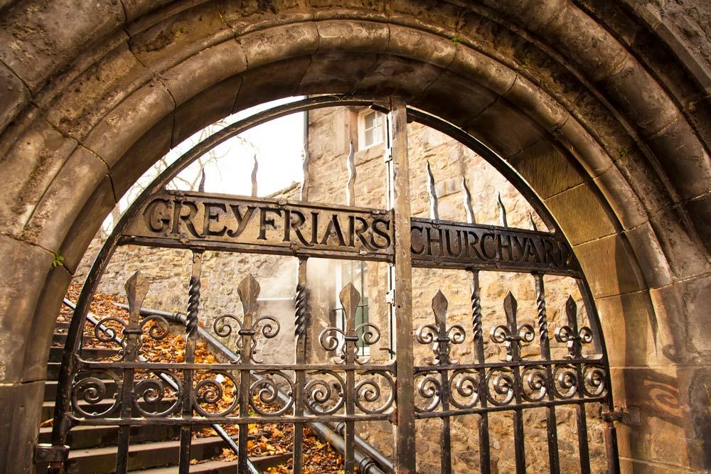 Gates to Greyfriars Churchyard in Edinburgh