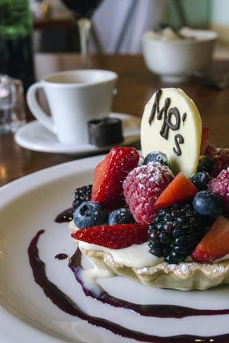 Dessert at MP's Bistro in Edinburgh