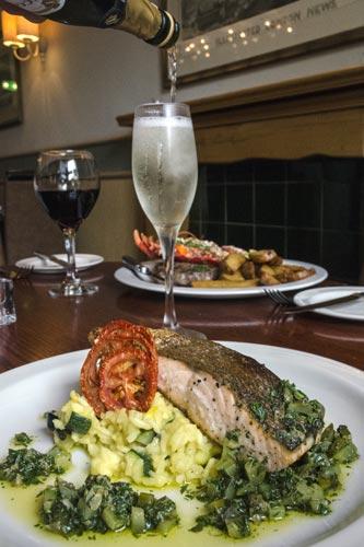 Salmon dish at MP's Bistro in Edinburgh