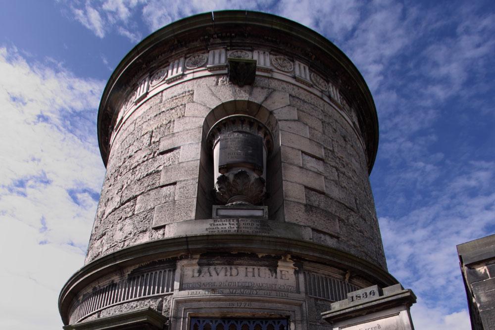 Tomb of David Hume in Old Calton Burial Ground Edinburgh