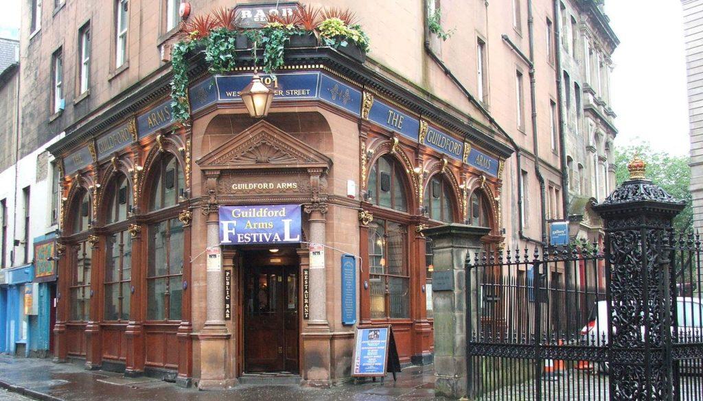 Edinburgh Guildford Arms Pub Exterior