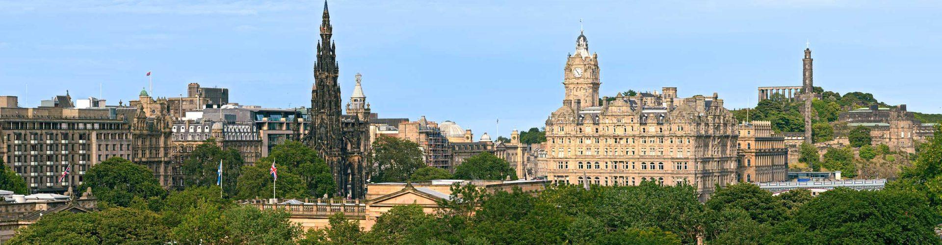 A panoramic image of Edinburgh City