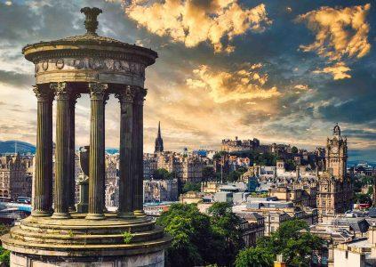 A view of Edinburgh City from Calton Hill