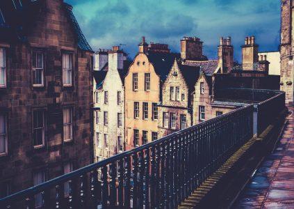 Buildings in the old town of Edinburgh
