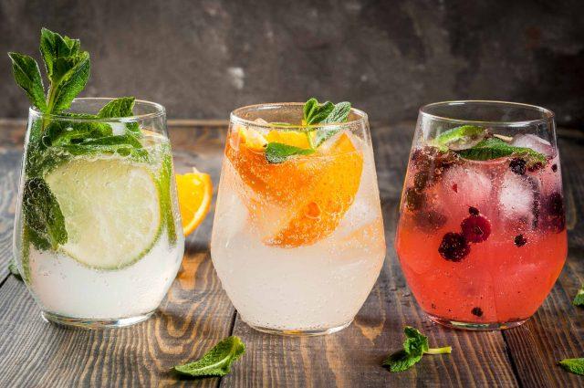 Three gin cocktails