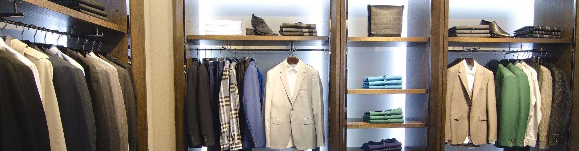 Inside a luxury menswear store