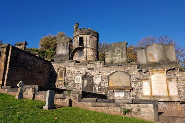Graves at New Calton Burial ground in Edinburgh