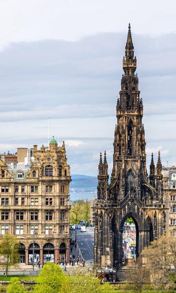 The Scots Monument in Edinburgh