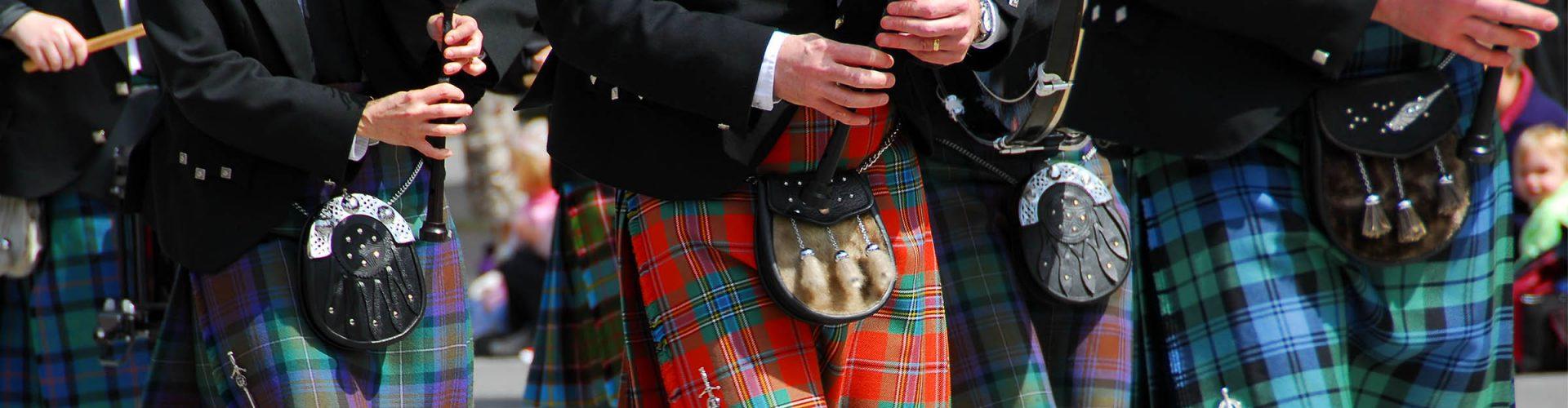 A Scottish pipeband