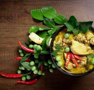A Thai green curry