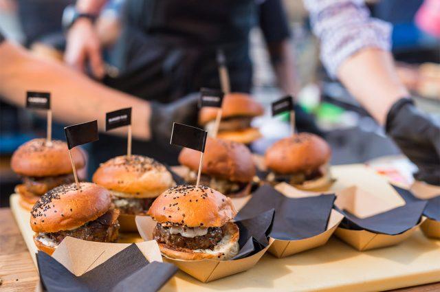 A burger stall