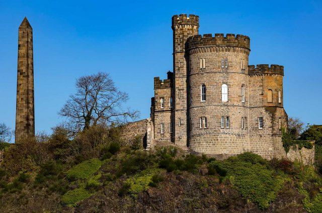 Calton Jail or Gaol in Edinburgh on Calton Hill