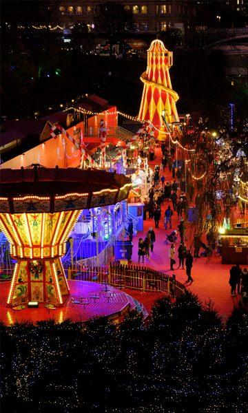 Christmas rides and lights at the Edinburgh Christmas Festival