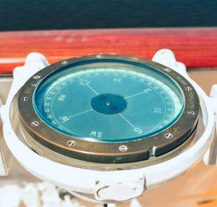 A compass on Royal Yacht Britannia