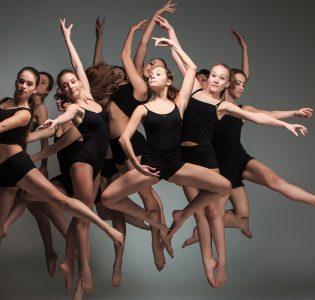 Contemporary dancers performing