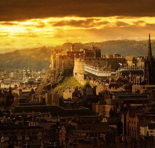 Edinburgh Castle at sunset
