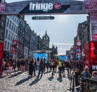 The Royal Mile at the Edinburgh Festival Fringe