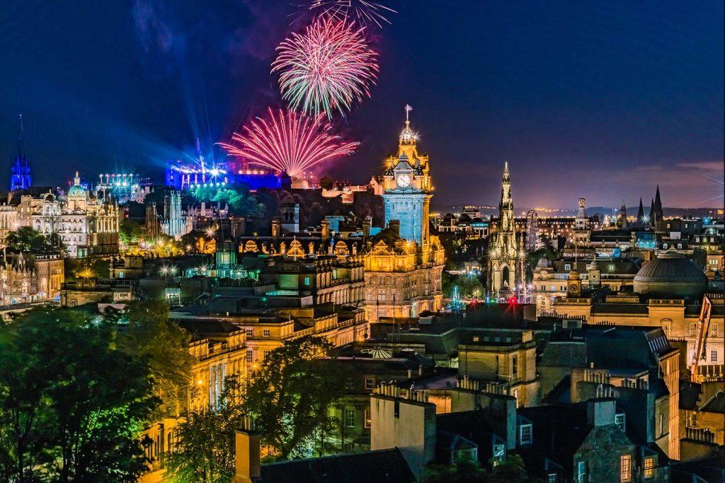 Fireworks over Edinburgh at the Royal Edinburgh Military Tattoo
