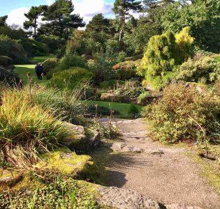 Gardens at the Royal Botanical Gardens in Edinburgh