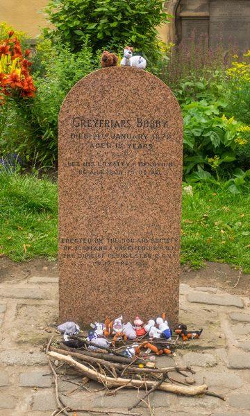The gravestone of Greyfriars Bobby in Greyfriars Kirkyard