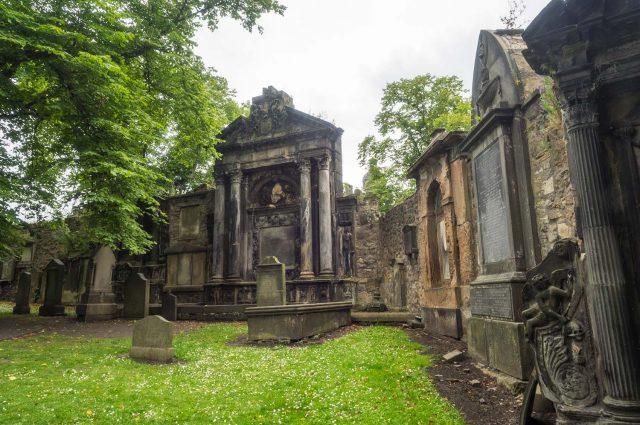 Graves in Greyfriars Kirk in Edinburgh