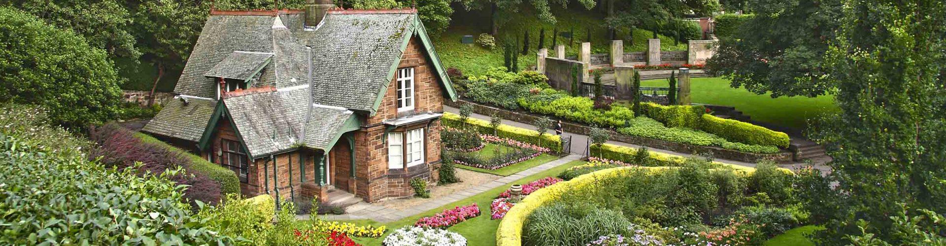 A quaint old house in Princes Street Gardens in Edinburgh