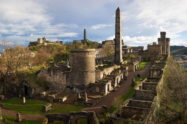 The Old Calton Cemetery in Edinburgh