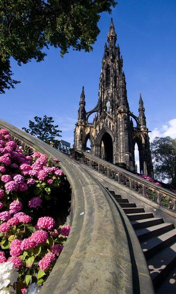The Scott Monument on Princes Street in Edinburgh