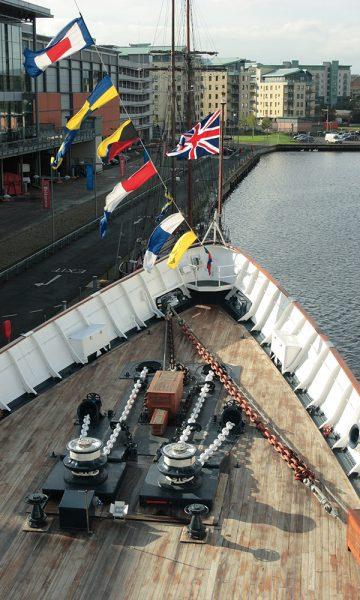 The bow on Royal Yacht Britannia