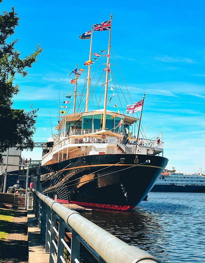 Royal Yacht Britannia in Leith