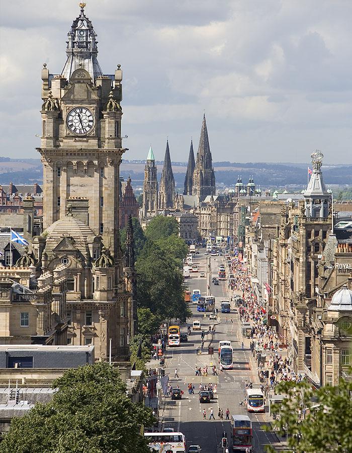 A busy Princes Street in Edinburgh
