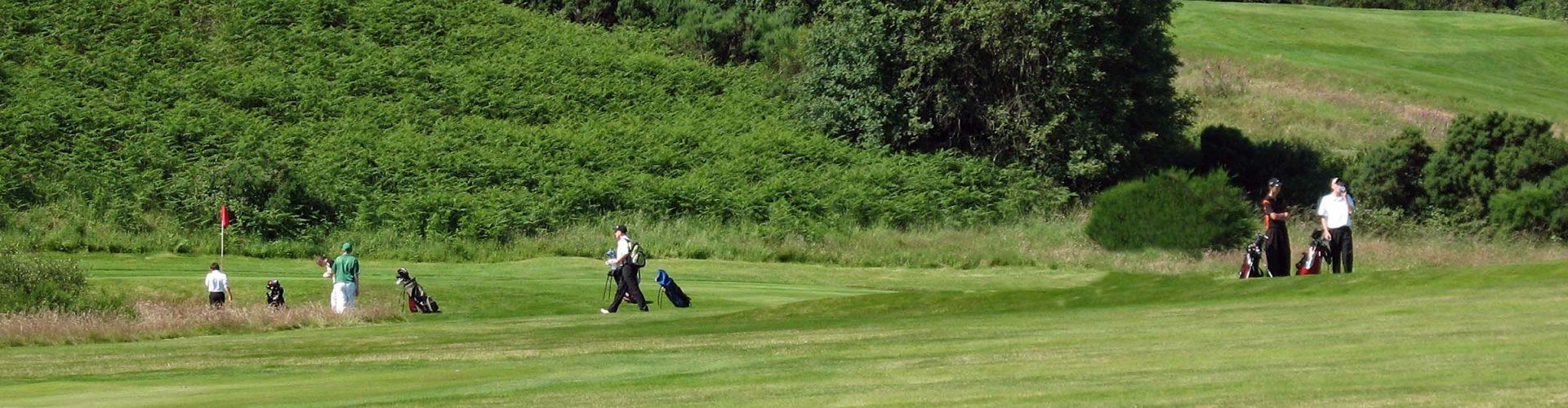 Golfers on Gleneagles golf course