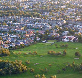 An aerial view of Prestonfield golf course in Edinburgh