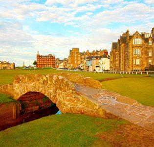 The bridge on St Andrews golf course