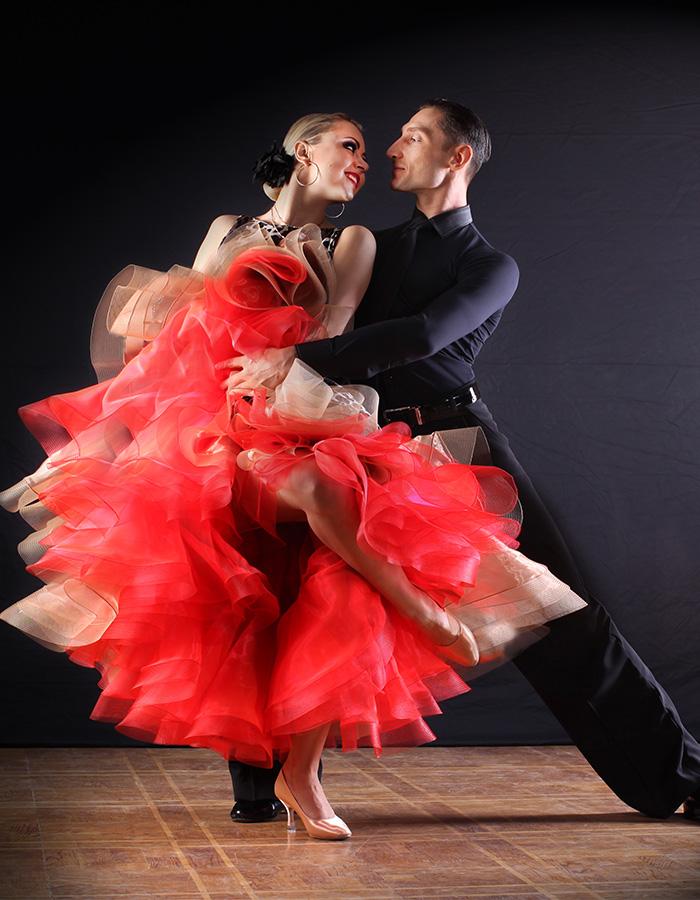 Two ballroom dancers