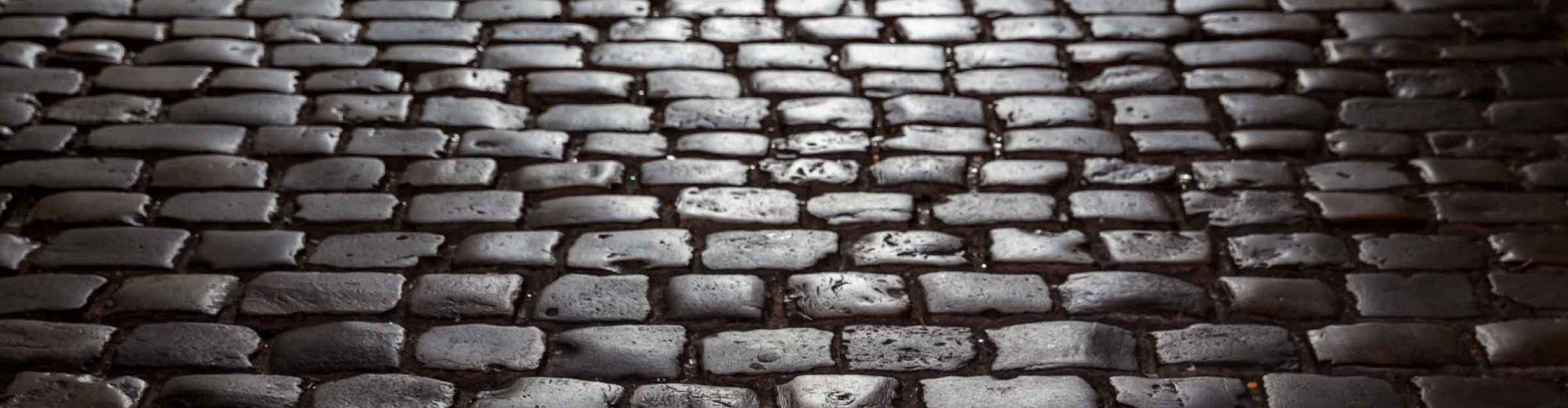 cobbles on a dark street